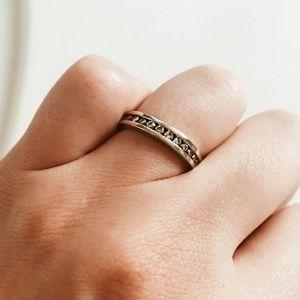 10K White Gold Diamond Ring Band